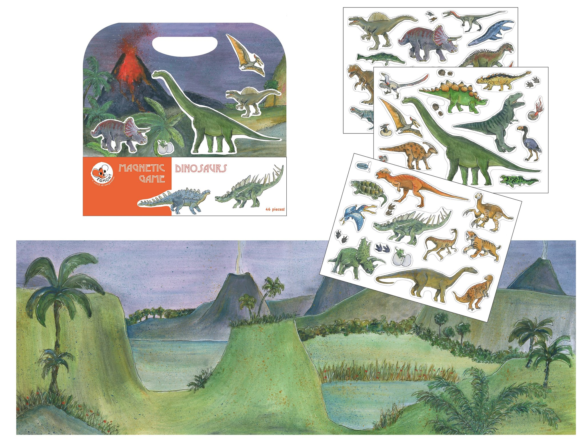 Magnetic Game Dinosaurs from Egmont Toys